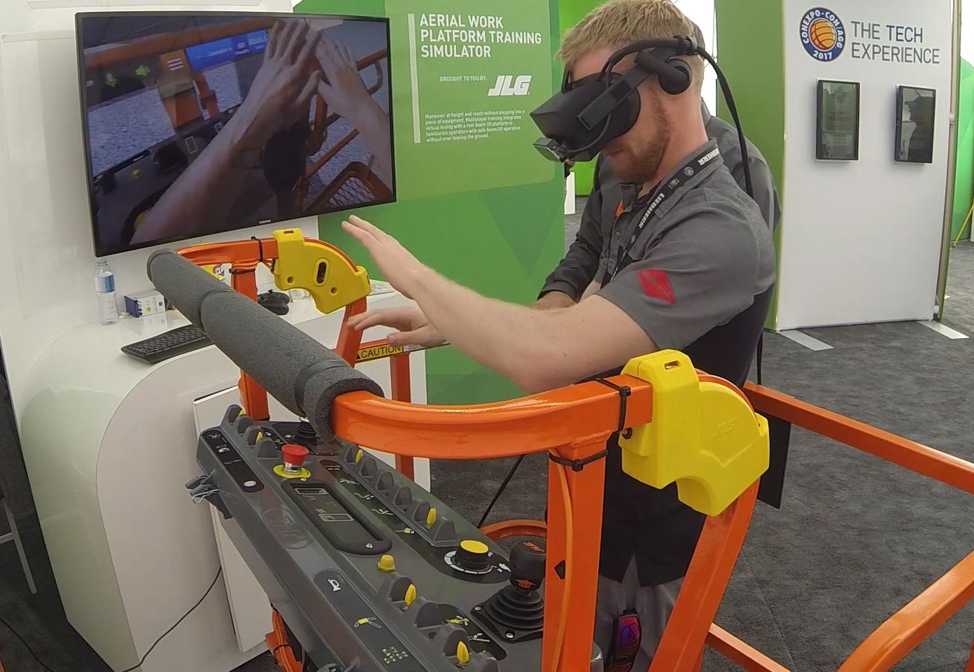 JLG Immersive Training Simulator by ForgeFX Training Simulations Hand Tracking