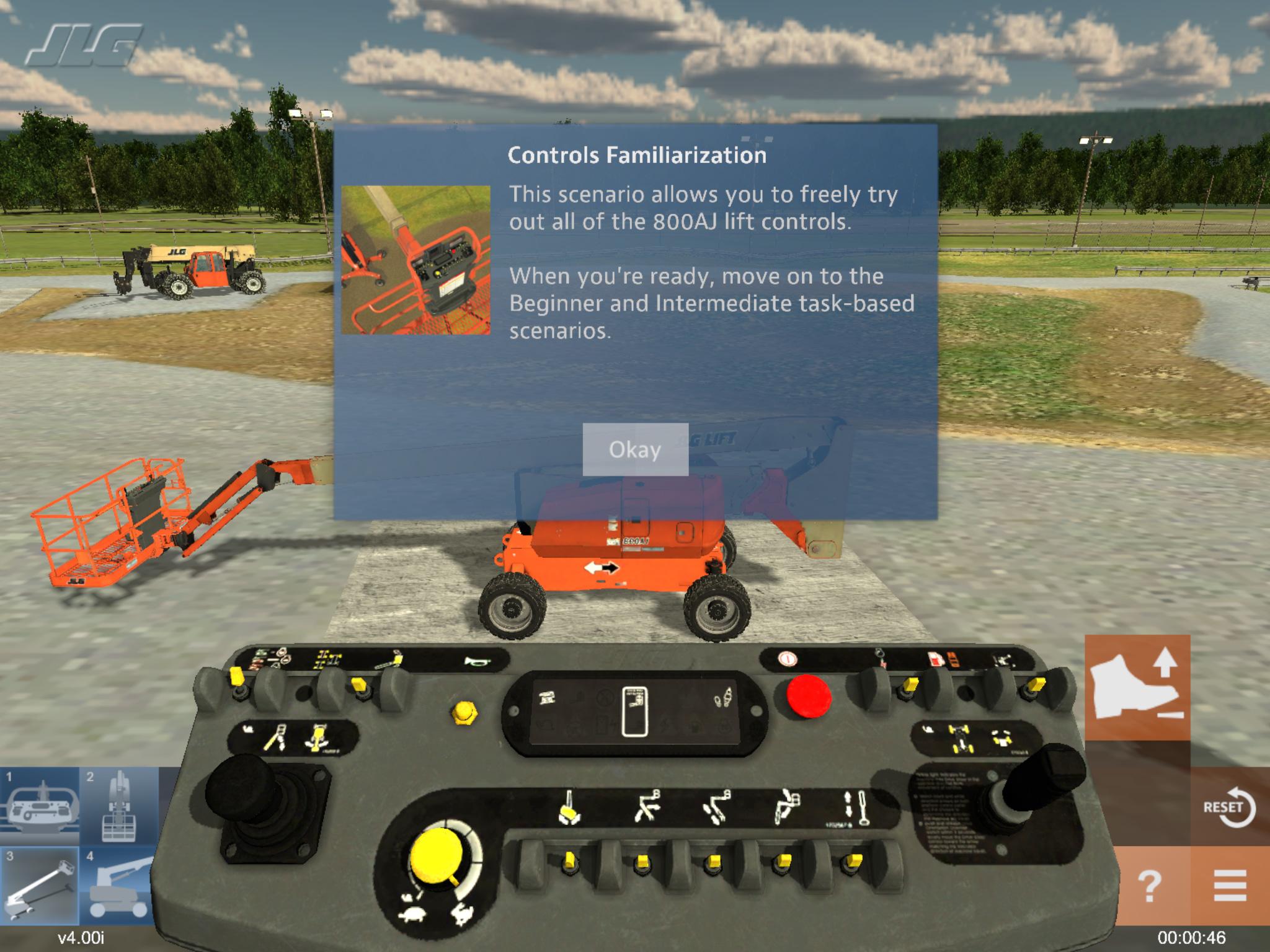 Articulating Jib Lift Training Simulator