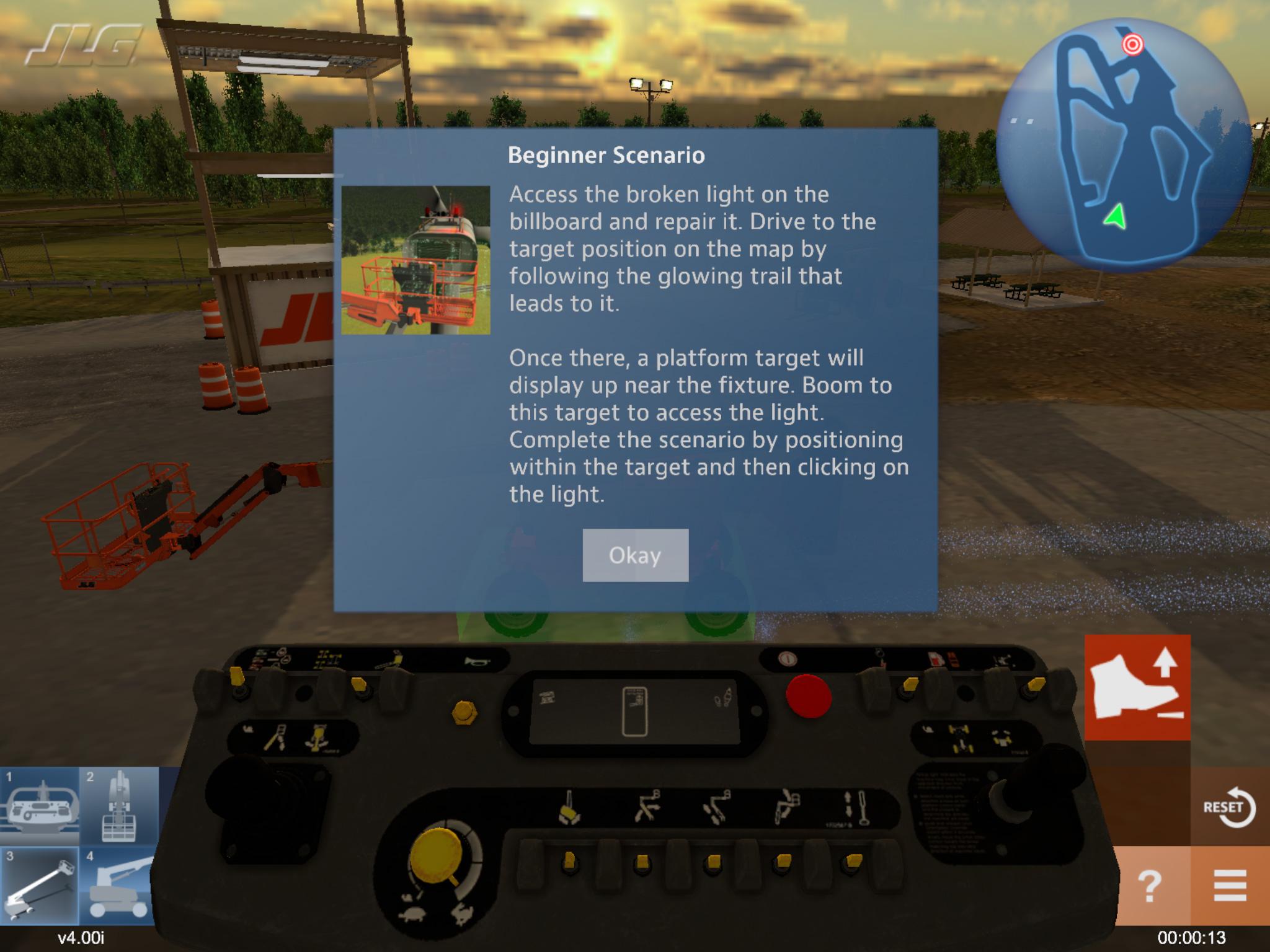 Heavy Equipment Operator Training Simulator
