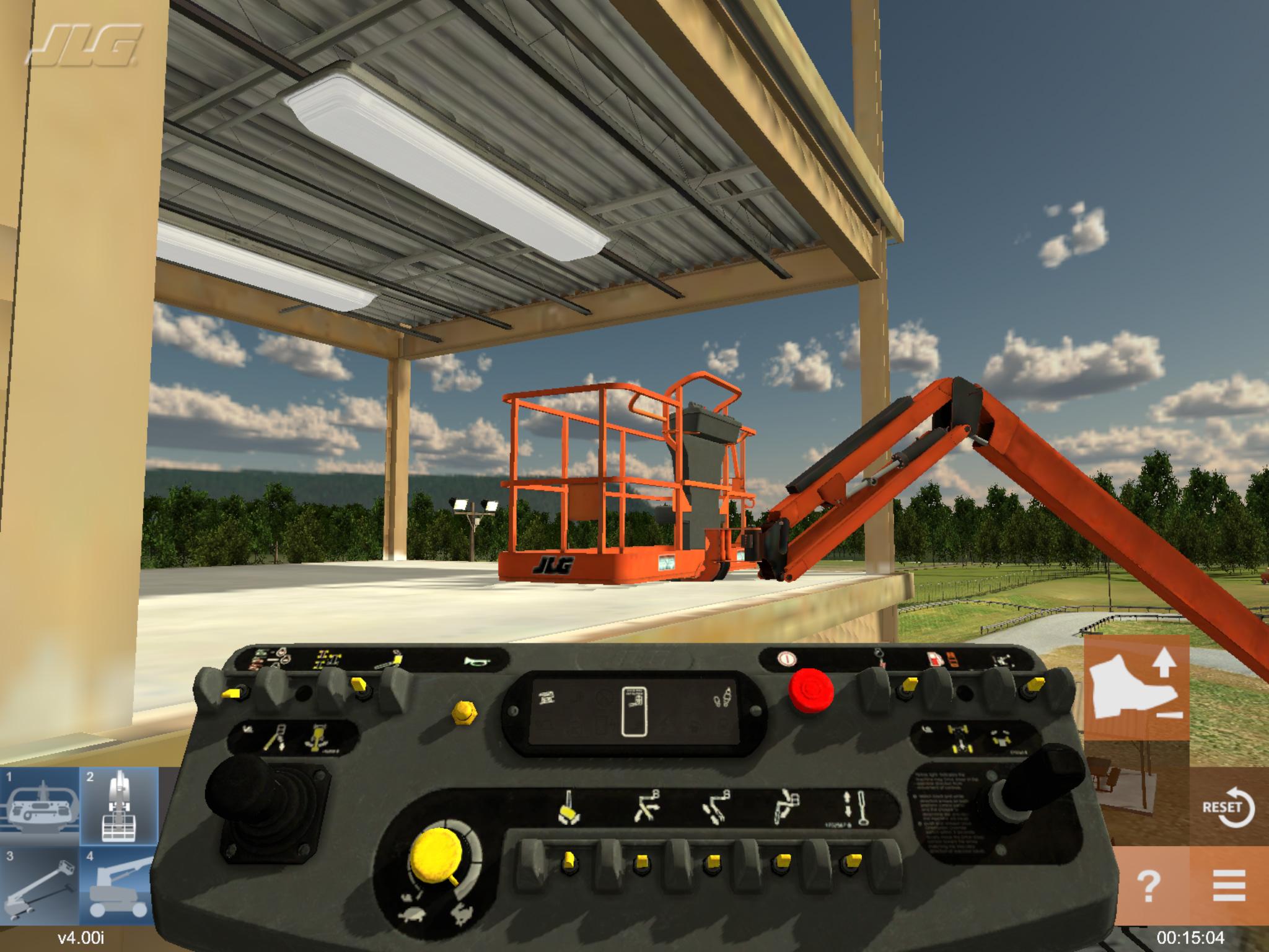 JLG Articulating Jib Lift Training Simulator by ForgeFX