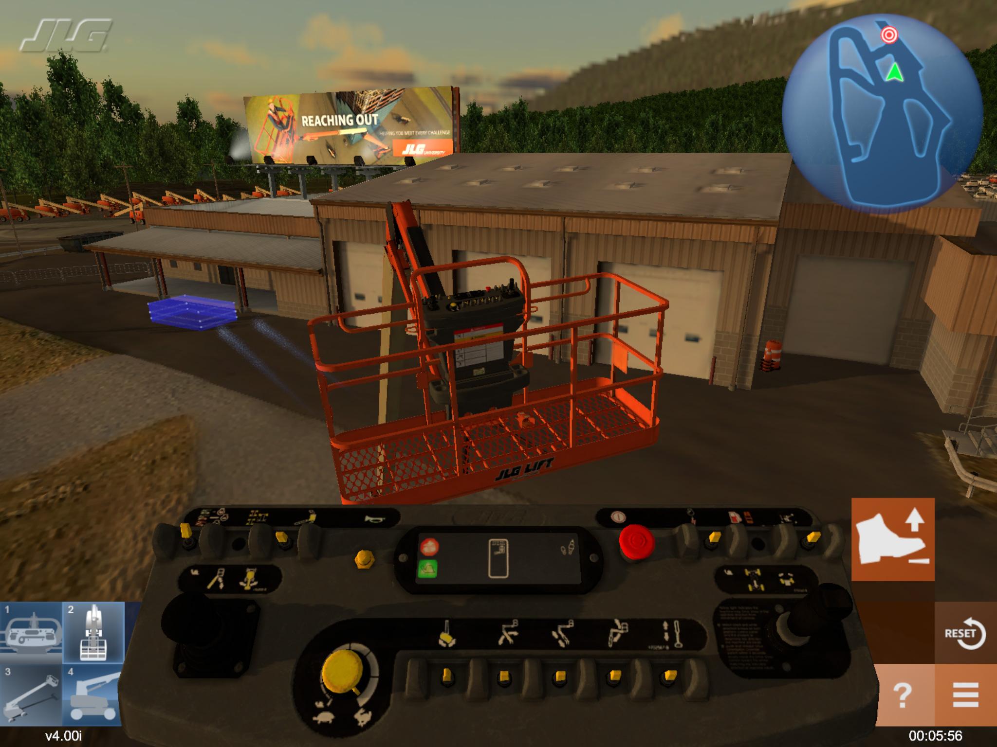 JLG Equipment Operator Training Simulator