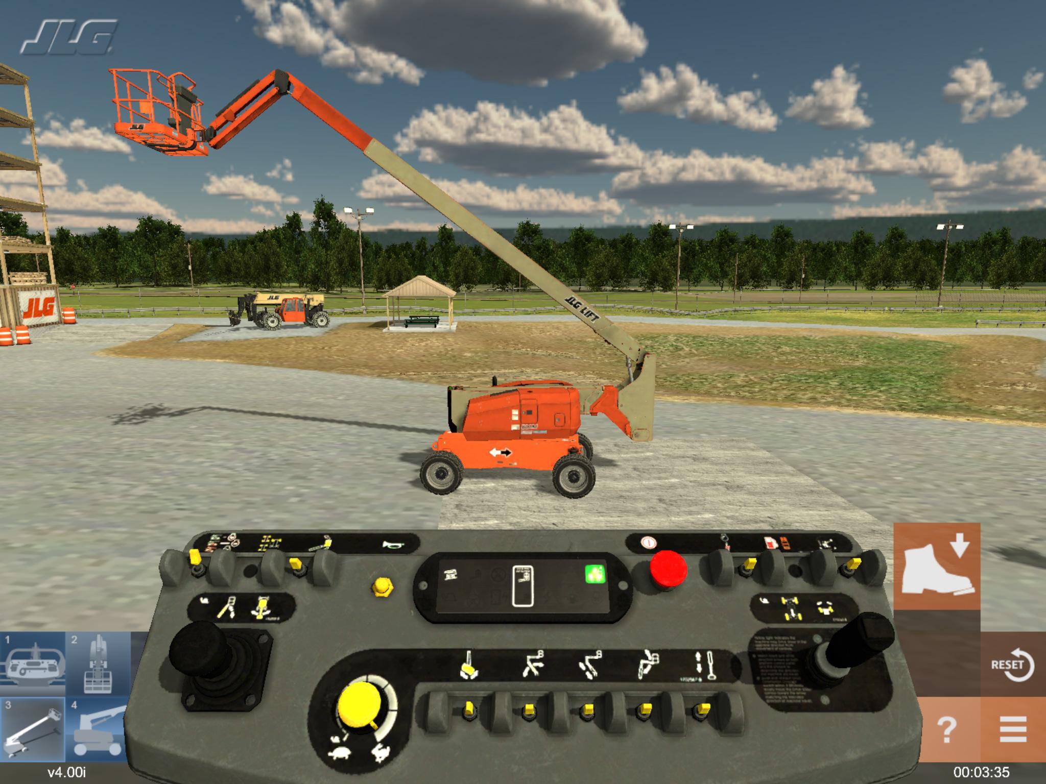 Tablet Based Heavy Equipment Training Simulator