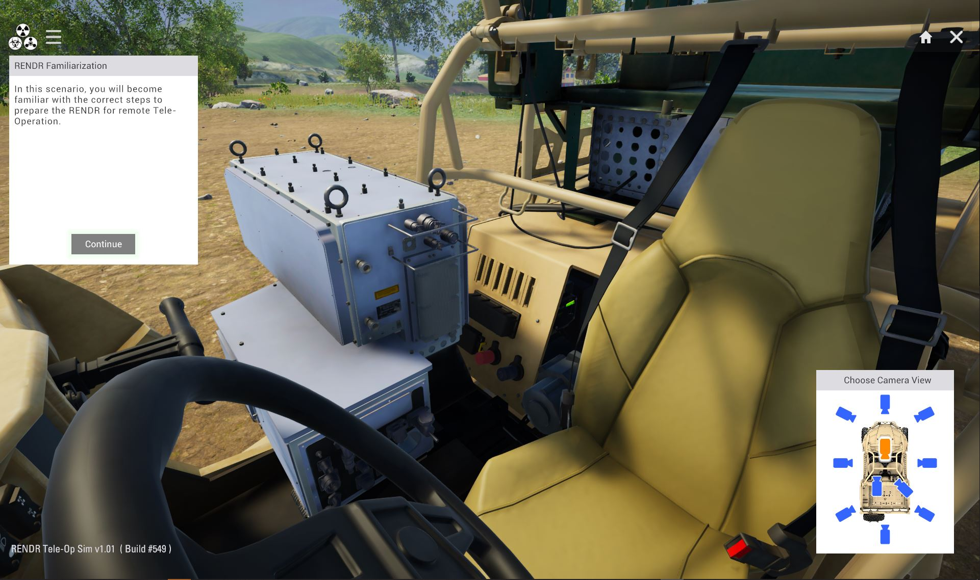 Remote Teleoperation Simulation Based Training