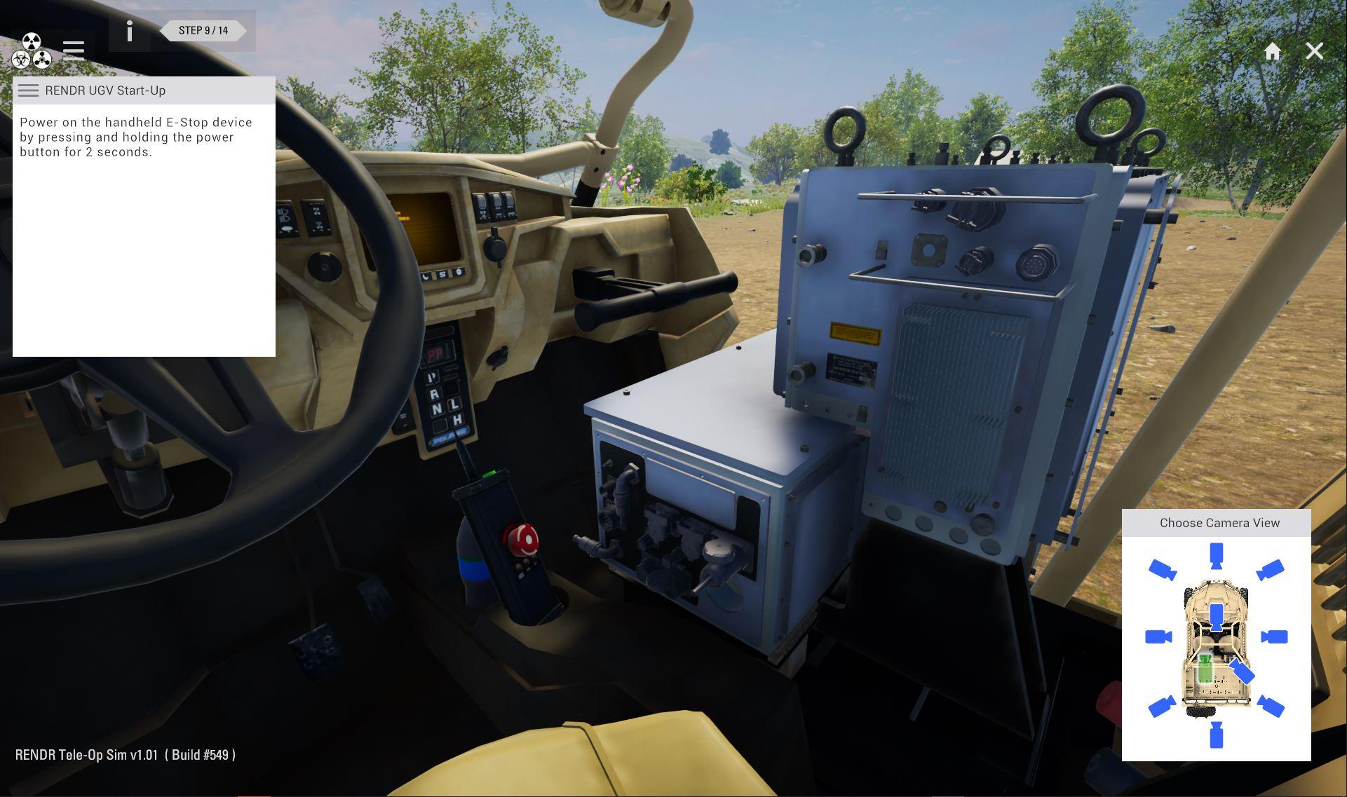Simulation Based Training for Unmanned Ground Vehicle Operation
