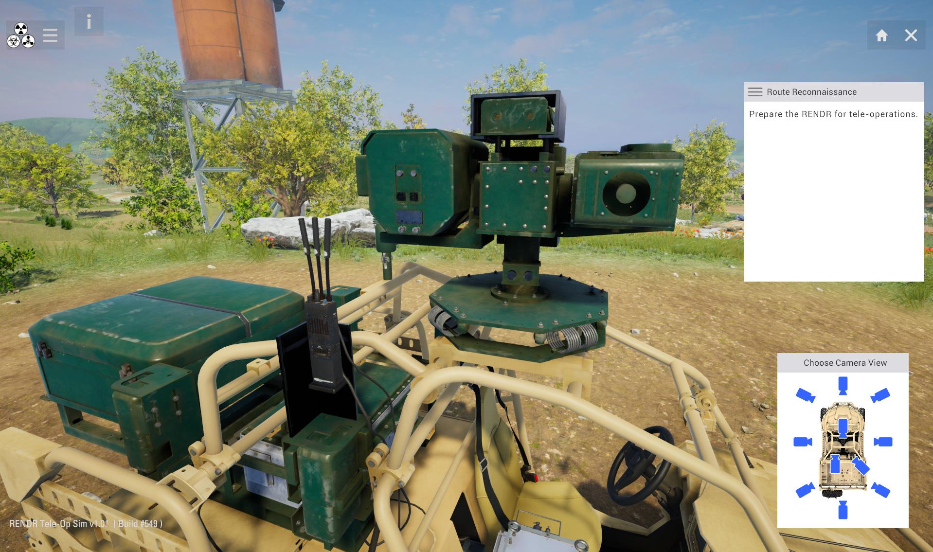 Unmanned Ground Vehicle Operation Training Simulator