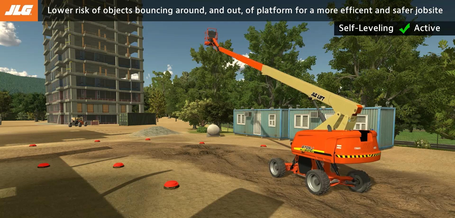 JLG Self-Leveling Boom Lift Training Simulator by ForgeFX Simulations