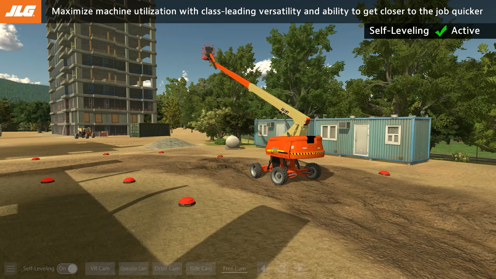 JLG Self-Leveling Chassis Boom Lift Training Simulator by ForgeFX Simulations