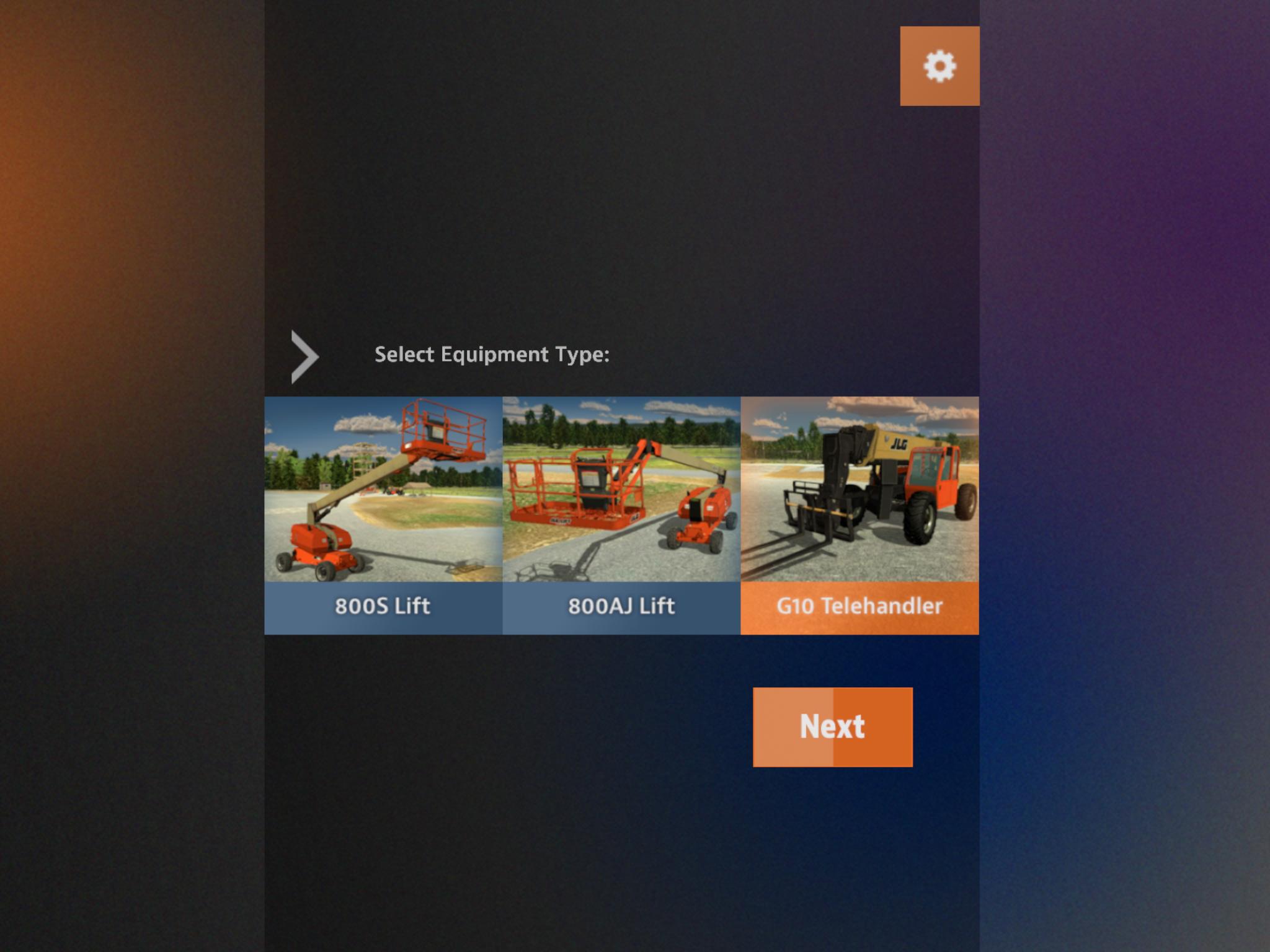 JLG Industries Tablet Based Training Simulator