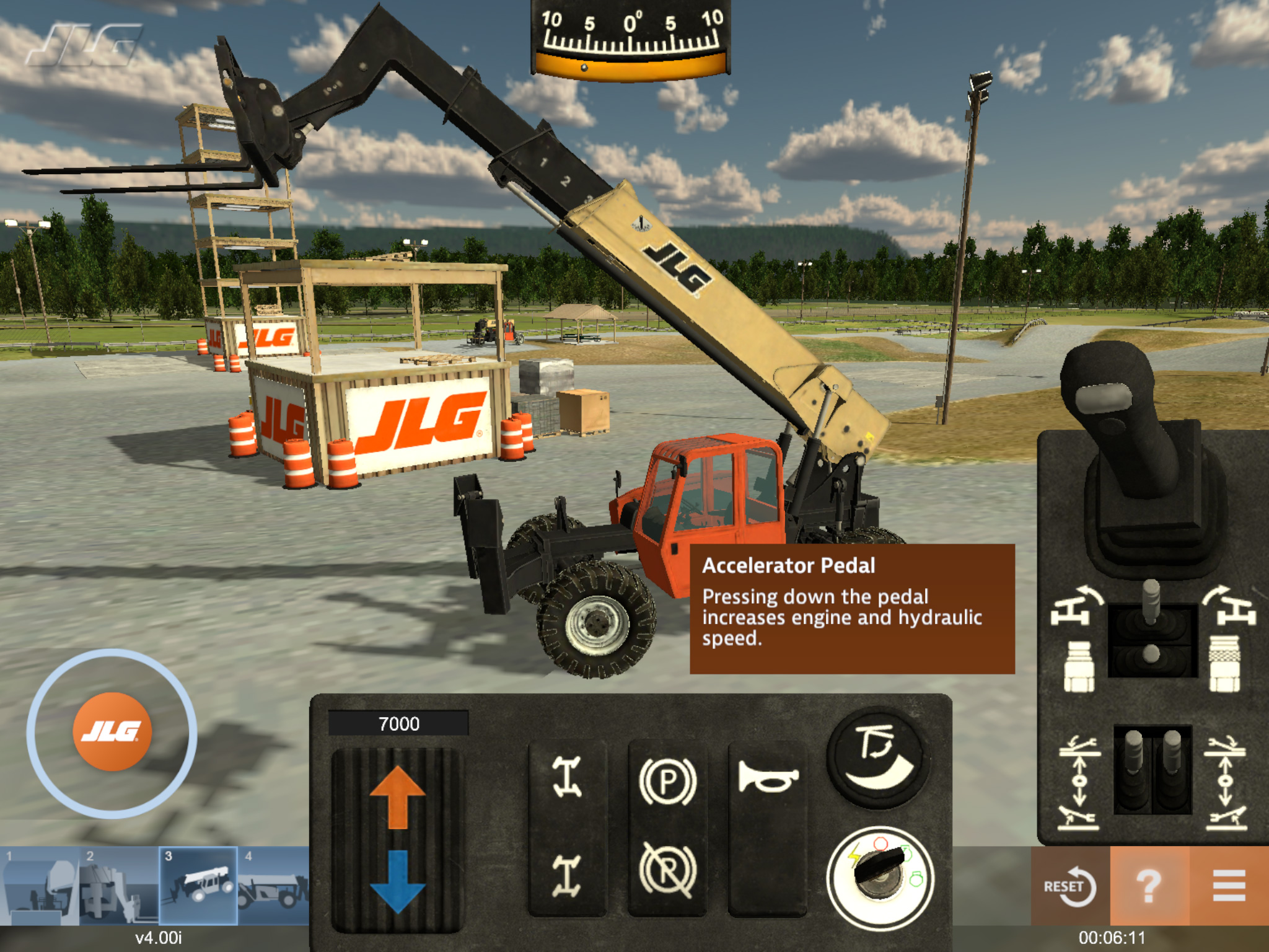 JLG Industries Telehandler Operator Training Simulator by ForgeFX Simulations