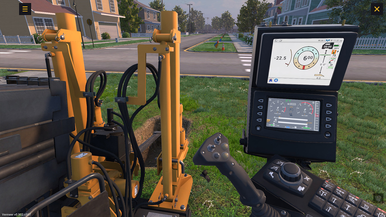 Vermeer Corporation HDD Training Simulator, Virtual Controls