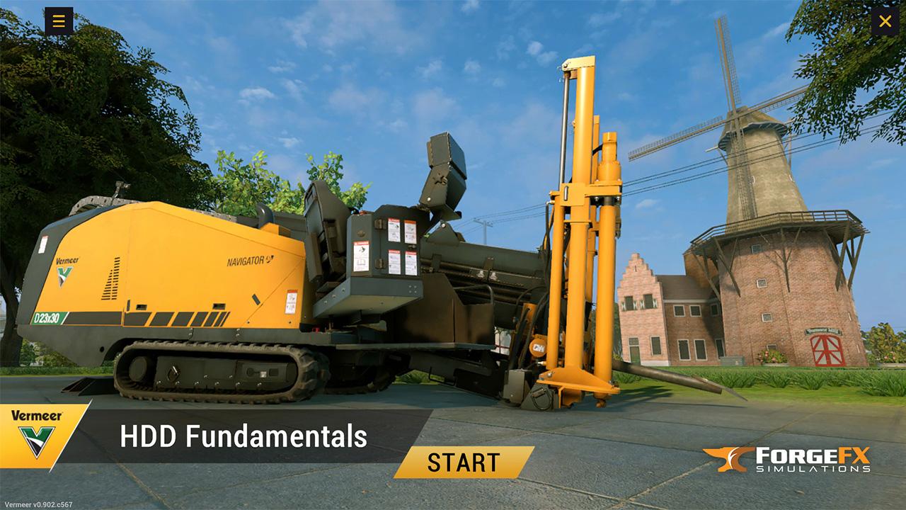 Vermeer Corporation Horizontal Directional Drill Training Simulator