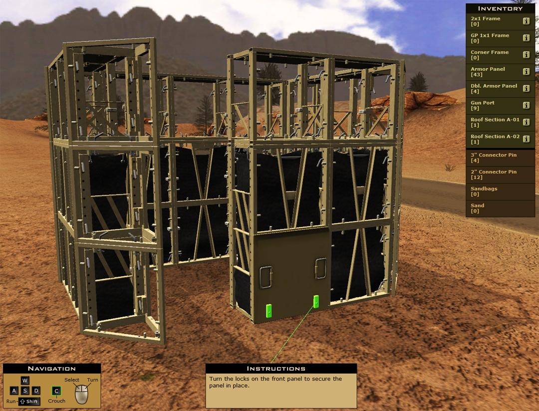 3D Equipment Training Simulation
