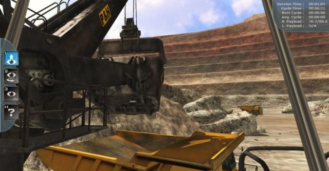 Komatsu P&H Mining 4100XPC Electric Rope Shovel Training Simulator by ForgeFX Simulations