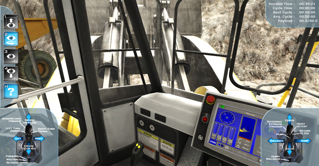 Front-End Wheel Loader Simulator Controls Familiarization