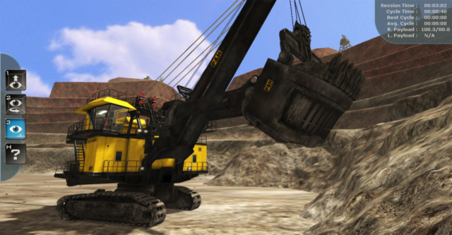 Komatsu P&H Mining Electric Rope Shovel Training Simulator