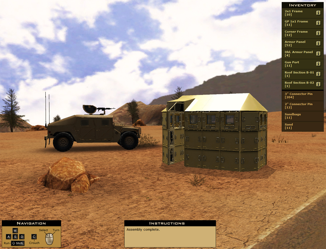 Military Equipment Assembly Training Simulation