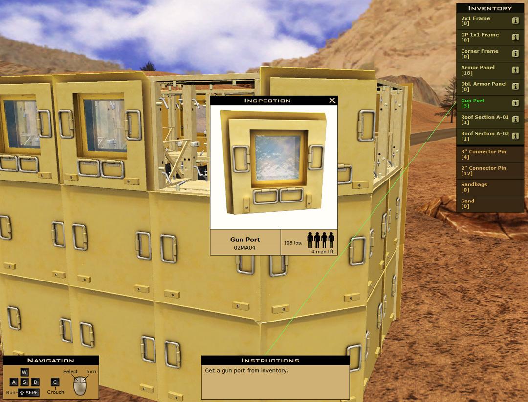Military Equipment Training Simulation
