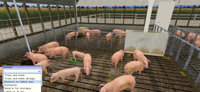 Virtual Pork Production Simulation-Based Training