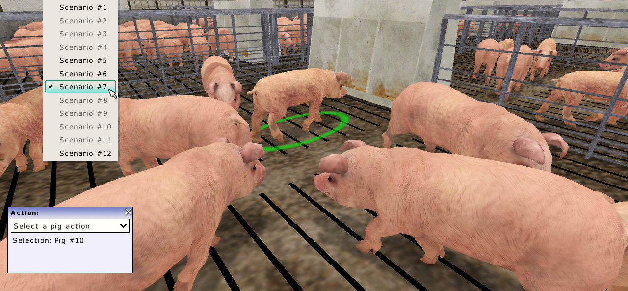 Simulation-based livestock management training.