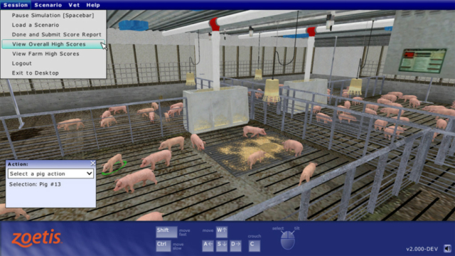 Zoetis (Pfizer Animal Health) Virtual-Walking-the-Pens Simulator by ForgeFX Simulations