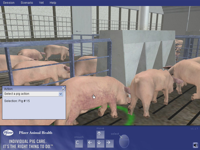 Simulation-Based Training for Pork Production Operations
