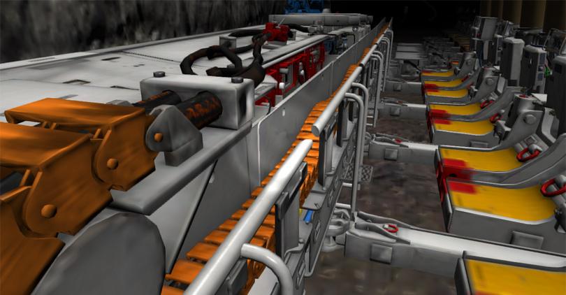 Longwall Mining Simulator, Haulage Breaker
