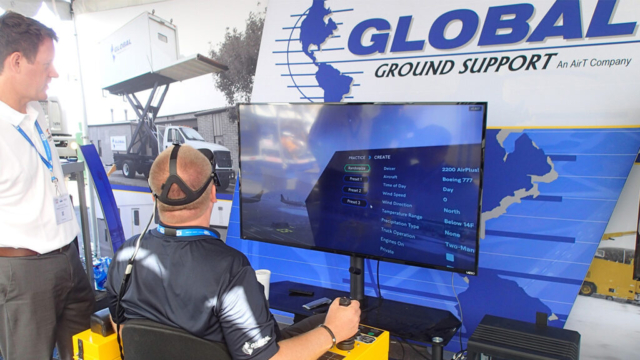 Aircraft Deicing Simulator for Virtual Reality Operator Training