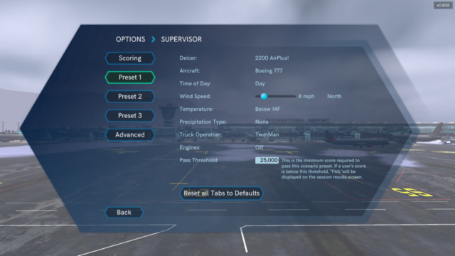 Virtual Training Scenario Creation, Global Ground Support Aircraft De-Icing Simulator by ForgeFX Simulations