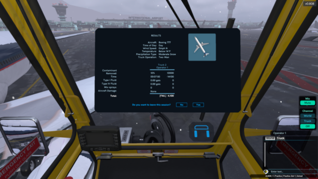 Global Ground Support Aircraft De-Icing Simulator by ForgeFX Simulations