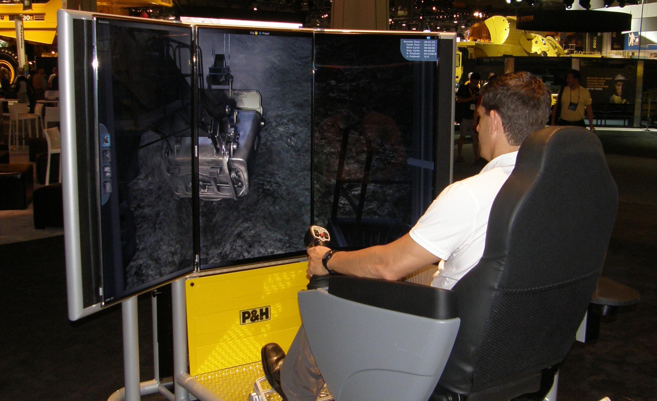Komatsu P&H Mining Electric Rope Shovel Simulator by ForgeFX Simulations