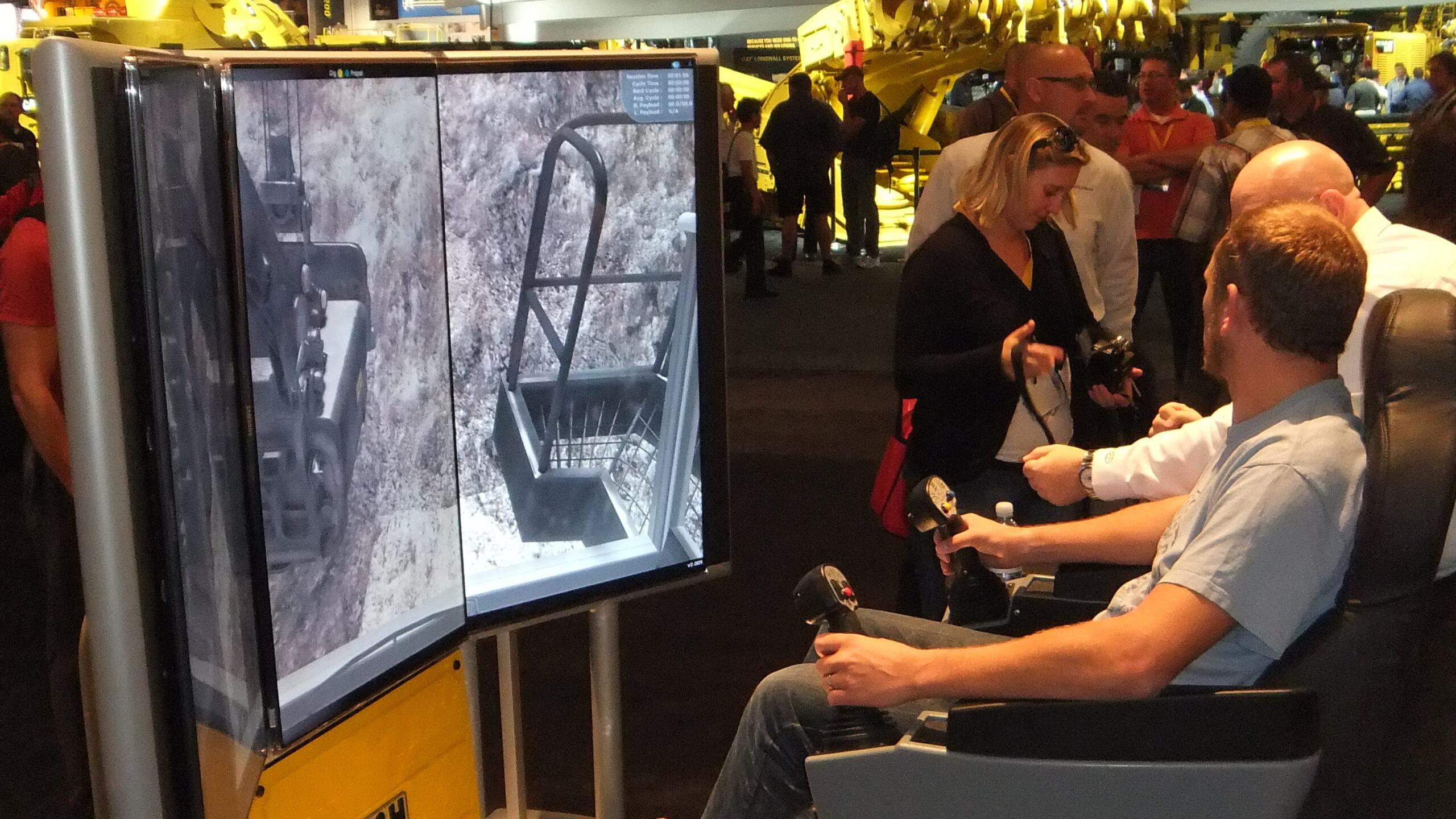Komatsu P&H Mining Electric Rope Shovel Simulator by ForgeFX Simulations at MinExpo
