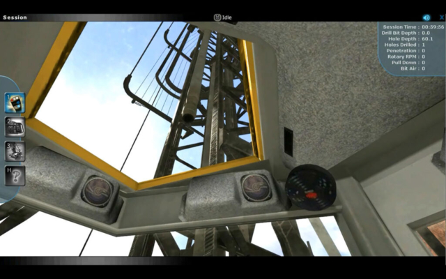 Blasthole Drill Operator Training Simulator, Operators View