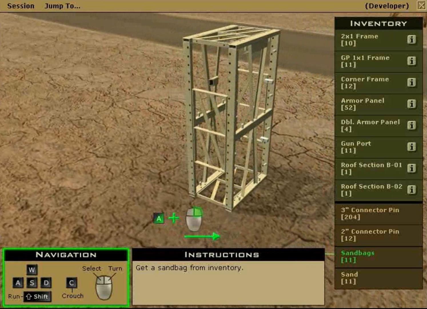 McCurdys Armor simulation navigation.