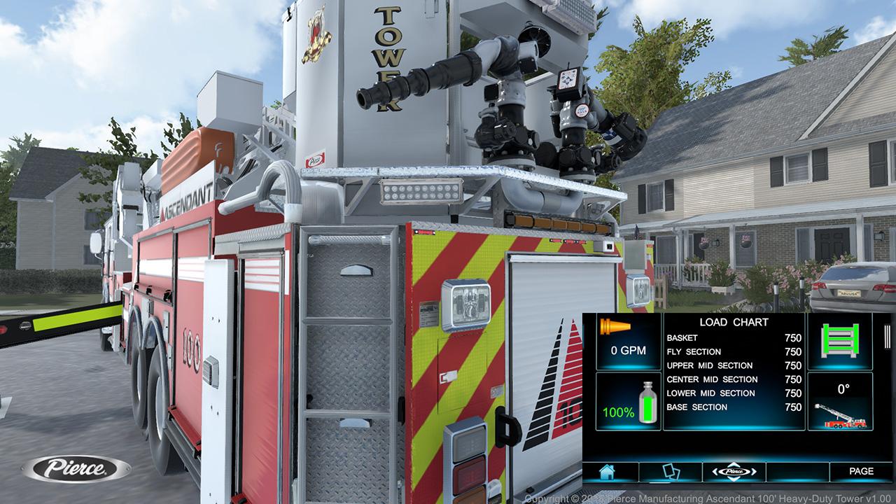 Pierce Ascendant Heavy Duty Aerial Tower Simulator Load Chart