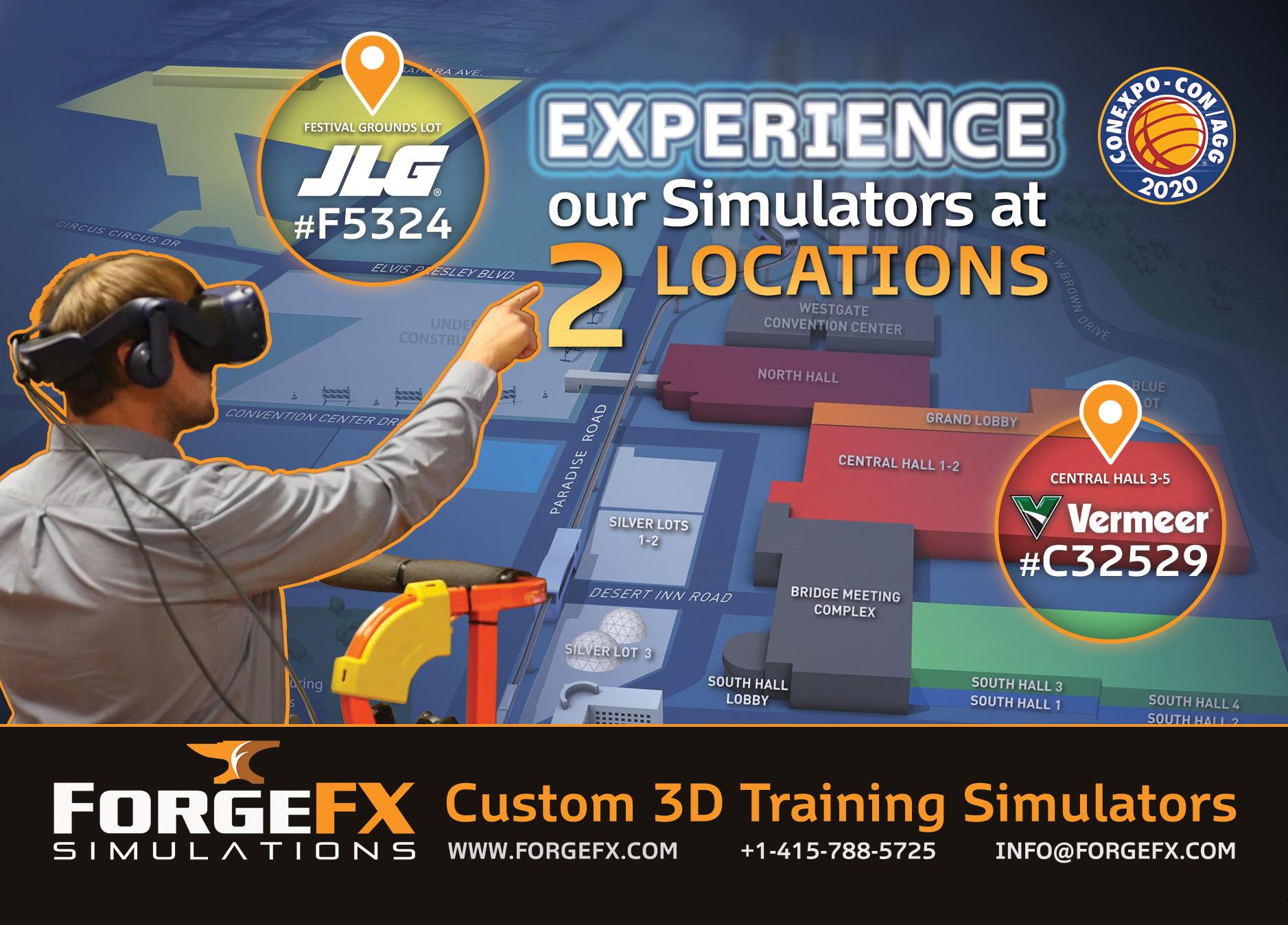 ForgeFX Simulations at CONEXPO-CON/AGG 2020