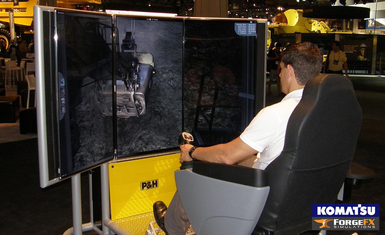 ForgeFX Simulations, Komatsu Mining, Shovel Operator Training Simulator