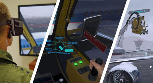 ForgeFX Simulations Custom Developed Aircraft Deicing Simulator