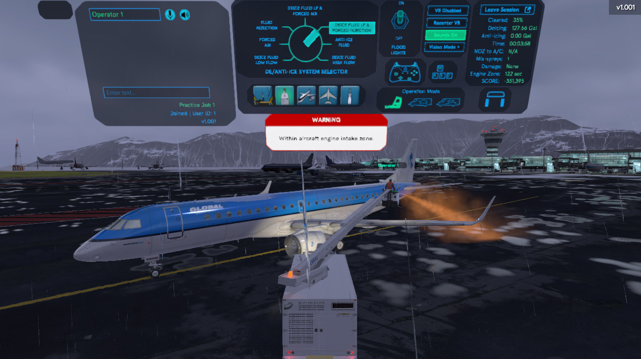 Virtual Reality Aircraft Deicing Training Simulator