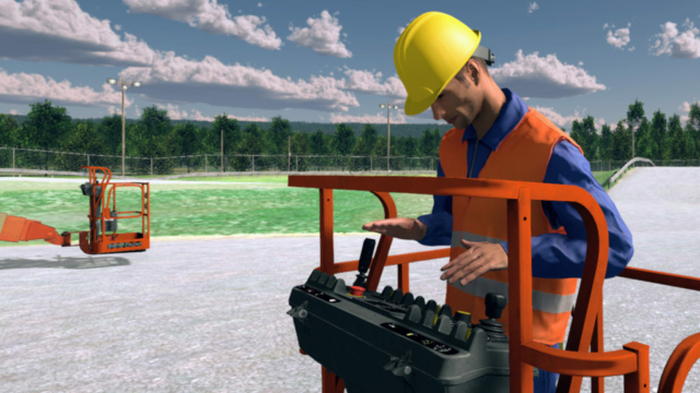 JLG Immersive Training Simulator for MEWP Operators