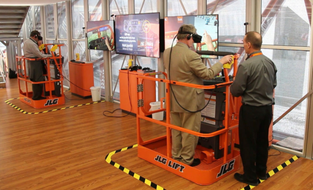 JLG Immersive Training Simulator by ForgeFX Simulations, Networked Multi-User Virtual Reality Training Simulator