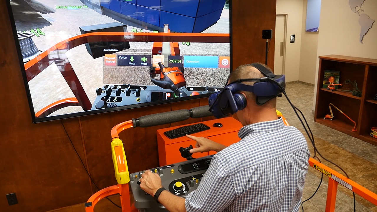 JLG Industries Access Equipment Training Simulator by ForgeFX Simulations