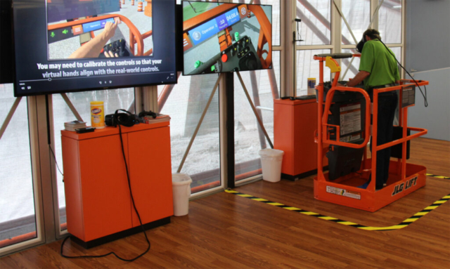 JLG Industries AccessReady XR Training Simulator ConExpo 2017