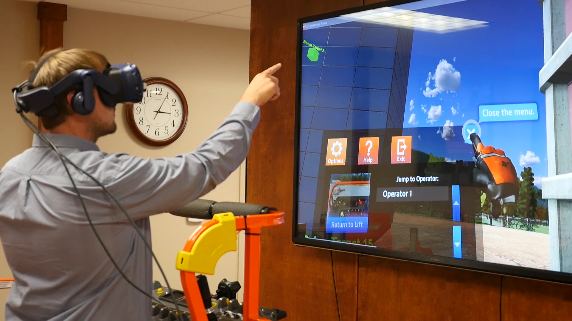 JLG Industries Equipment Simulator by ForgeFX Simulations Includes Hand-Tracking