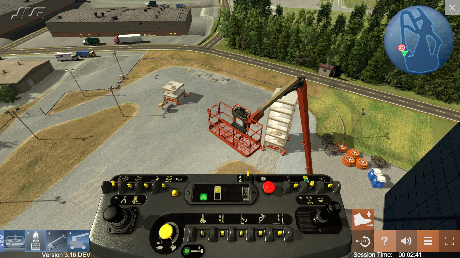 JLG Industries Training Simulator Task-Based Training Scenarios