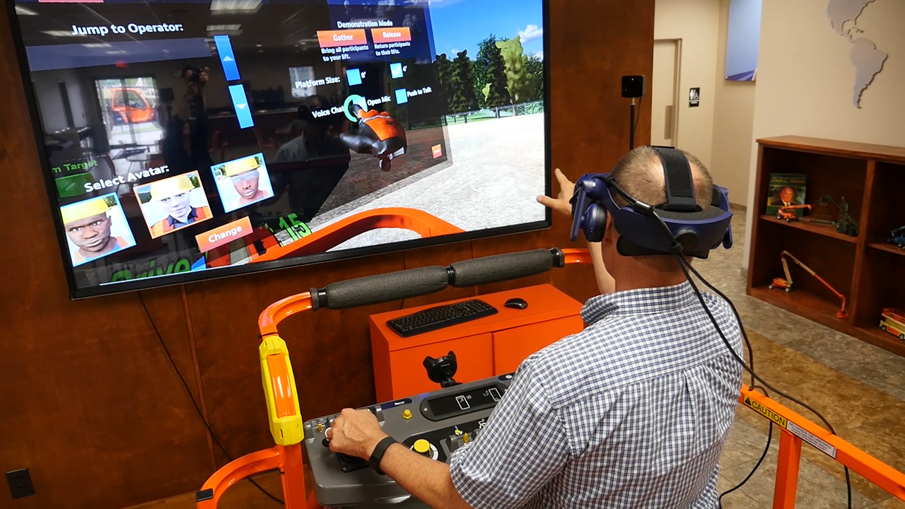 HTC VIVE Pro Virtual Reality Training Simulator developed for JLG Industries by ForgeFX Simulations