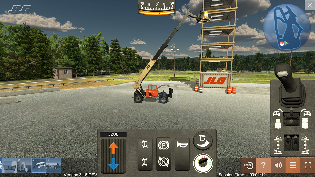 JLG Industries Telehandler Training Simulator by ForgeFX Simulations