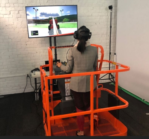 JLG Simulator by ForgeFX at HTC Vive Studios