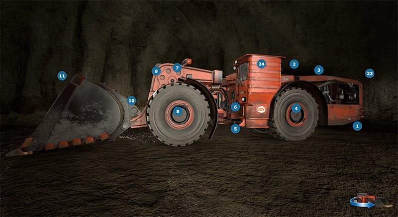 Underground Mining Loader Training Simulator