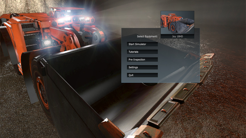 Joy Global Underground Mining Training Simulator