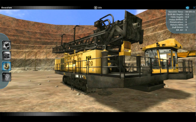 Komatsu 320XPC Blasthole Drill Operator Training Simulator by ForgeFX Simulations